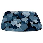 Navy Valentine Hearts Bathmat