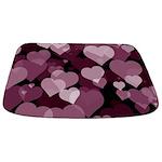Purple Valentine Hearts Bathmat