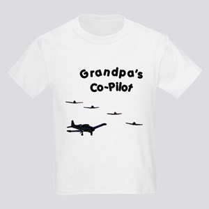 Grandpa's Co-Pilot Kids Light T-Shirt