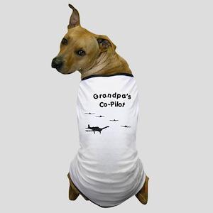 Grandpa's Co-Pilot Dog T-Shirt