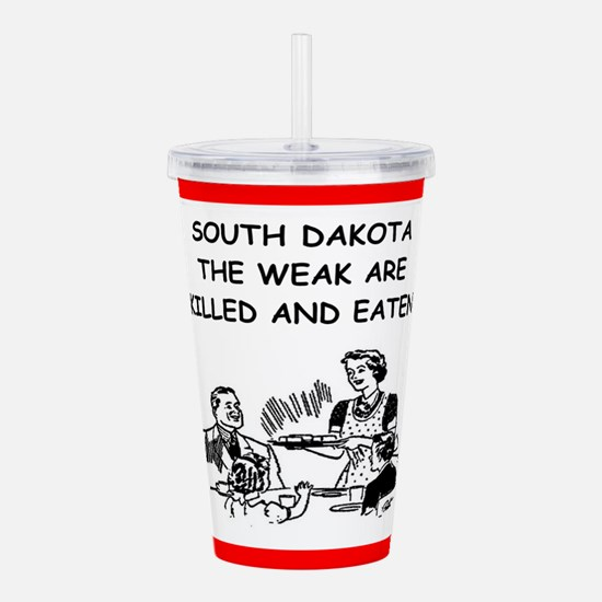 south dakota Acrylic Double-wall Tumbler