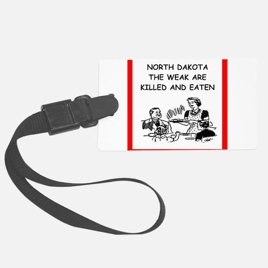 north dakota Luggage Tag