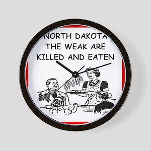 north dakota Wall Clock