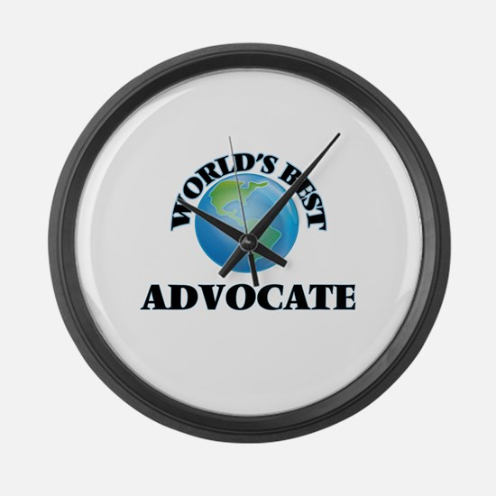 World's Best Advocate Large Wall Clock
