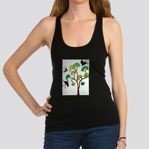 Swallows and the Apple tree Racerback Tank Top