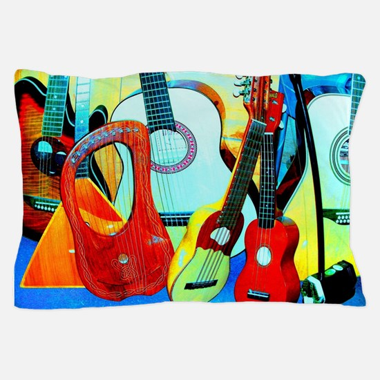Unique Ukelele Pillow Case