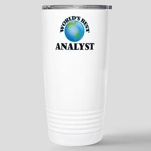 World's Best Analyst Stainless Steel Travel Mug