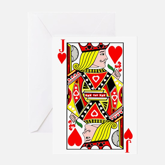 Jack Of Hearts Greeting Cards
