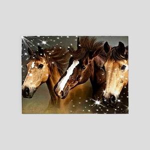 Sky Horses 5'x7'Area Rug