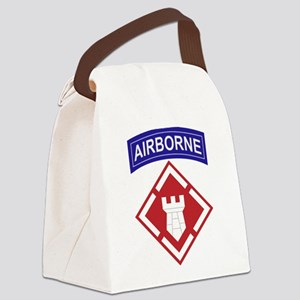 20th Engineer Brigade Canvas Lunch Bag