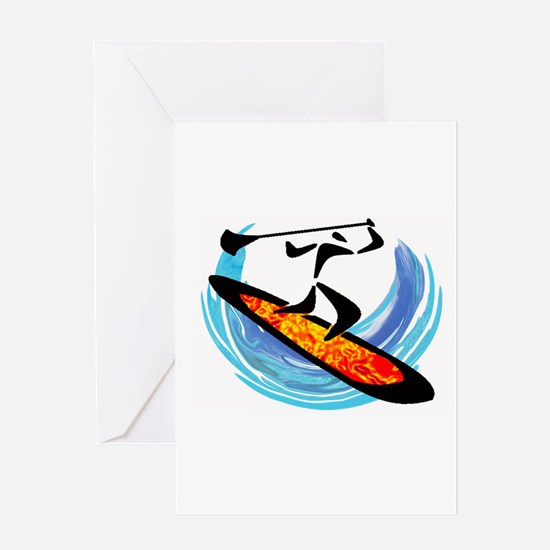 SUP FOR IT Greeting Cards
