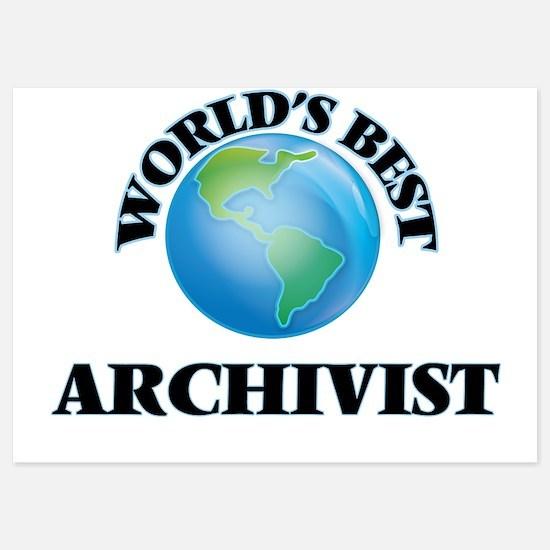 World's Best Archivist Invitations