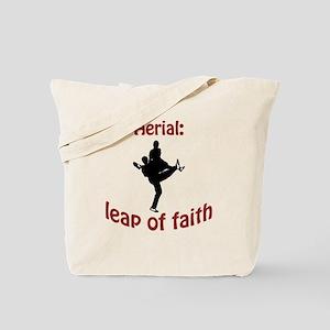 Aerial: leap of faith. Tote Bag