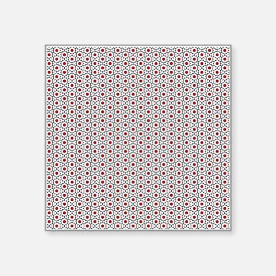 "elegant decorative pattern Square Sticker 3"" x 3"""