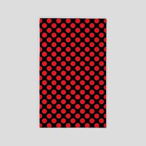 Red Polka Dots 3'x5' Area Rug