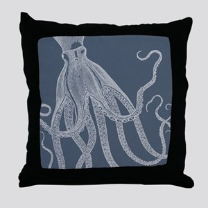 Vintage Octopus illustration in Lovely Ash Blue Th