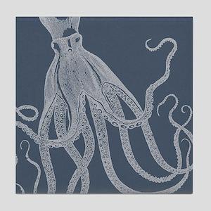 Vintage Octopus illustration in Lovely Ash Blue Ti