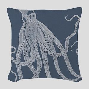 Vintage Octopus illustration in Lovely Ash Blue Wo