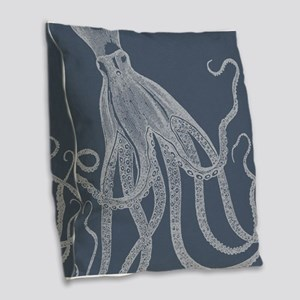 Vintage Octopus illustration in Lovely Ash Blue Bu