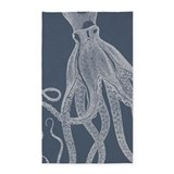 Blue octopus 3x5 Rugs
