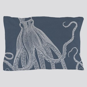 Vintage Octopus illustration in Lovely Ash Blue Pi