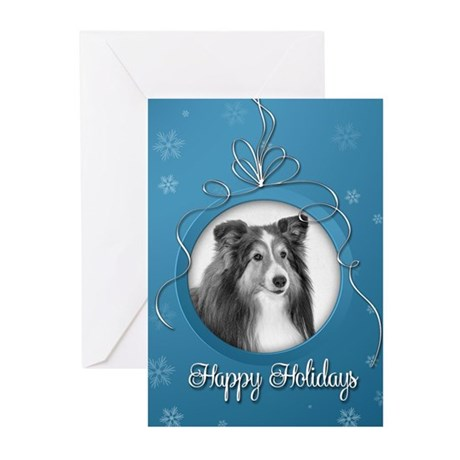 Elegant Sheltie Holiday Cards (Pk of 10)