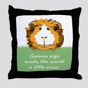 Guinea pigs make the world... Throw Pillow