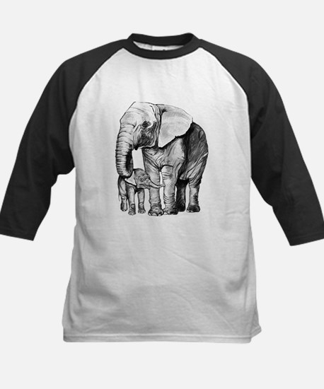 Drawn Elephant Baseball Jersey