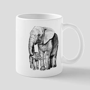 Drawn Elephant Mugs