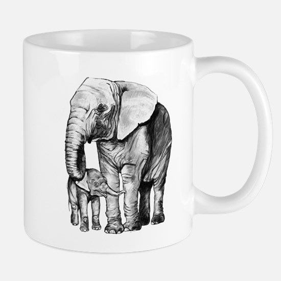 Drawn Elephant Mugs