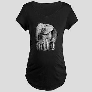 Drawn Elephant Maternity T-Shirt