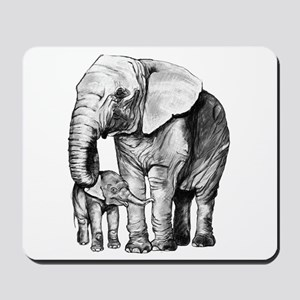 Drawn Elephant Mousepad