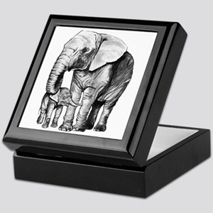 Drawn Elephant Keepsake Box