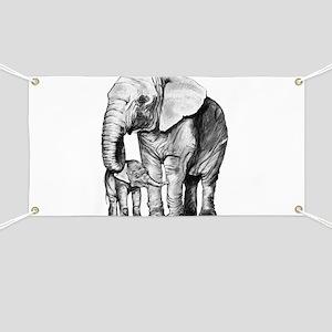 Drawn Elephant Banner
