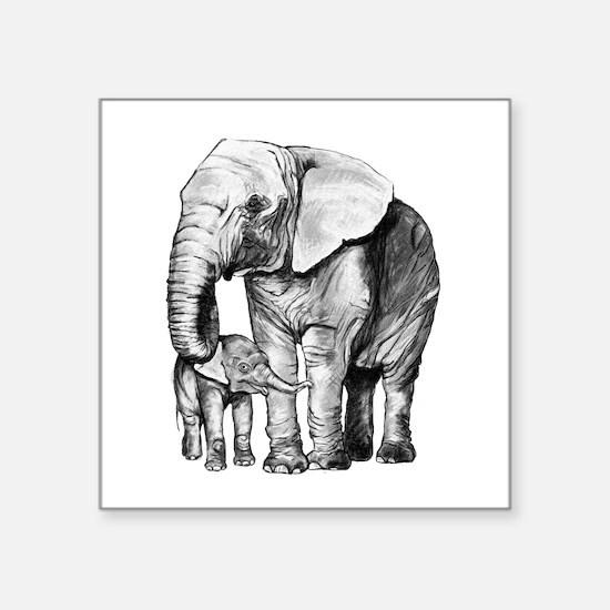 Drawn Elephant Sticker