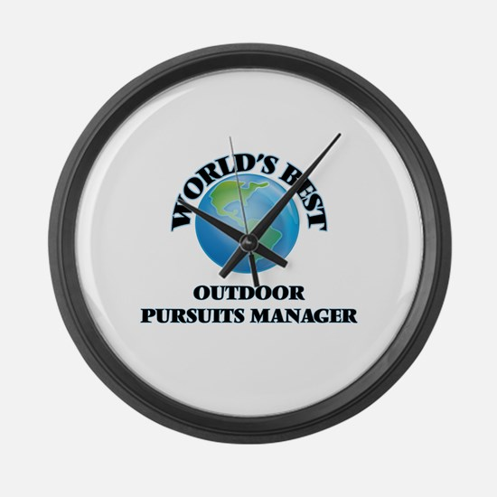 World's Best Outdoor Pursuits Man Large Wall Clock