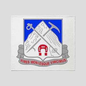 1-87 Infantry Unit Crest Throw Blanket
