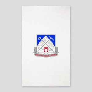 1-87 Infantry Unit Crest 3'x5' Area Rug
