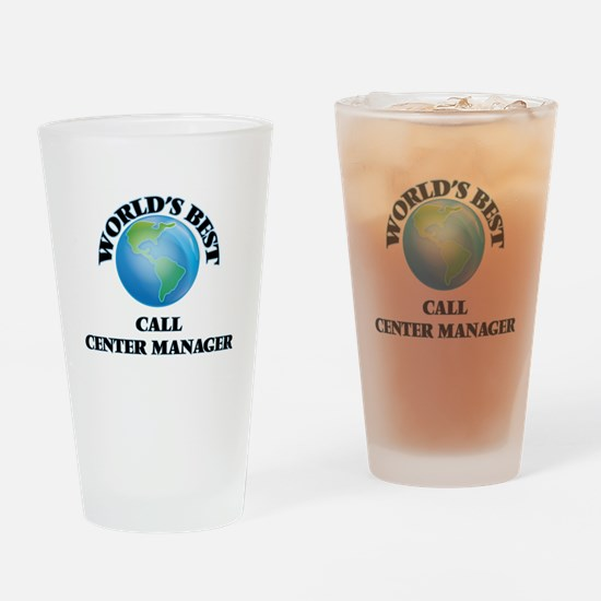 World's Best Call Center Manager Drinking Glass