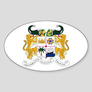 Benin Coat of Arms Oval Sticker