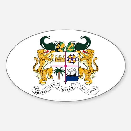 Benin Coat of Arms Oval Decal