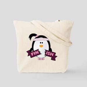 Penguins Run Tote Bag