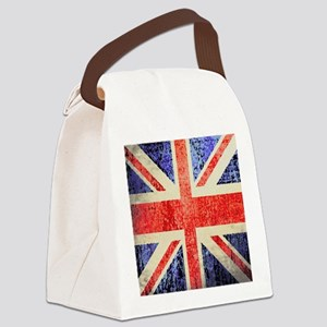 Grungy UK flag Canvas Lunch Bag