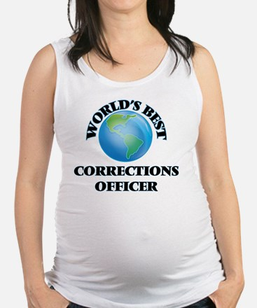 World's Best Corrections Office Maternity Tank Top