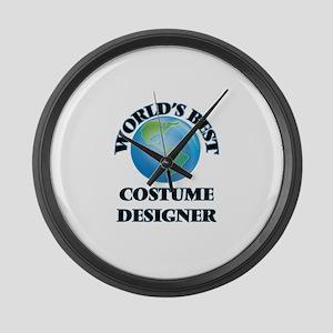 World's Best Costume Designer Large Wall Clock