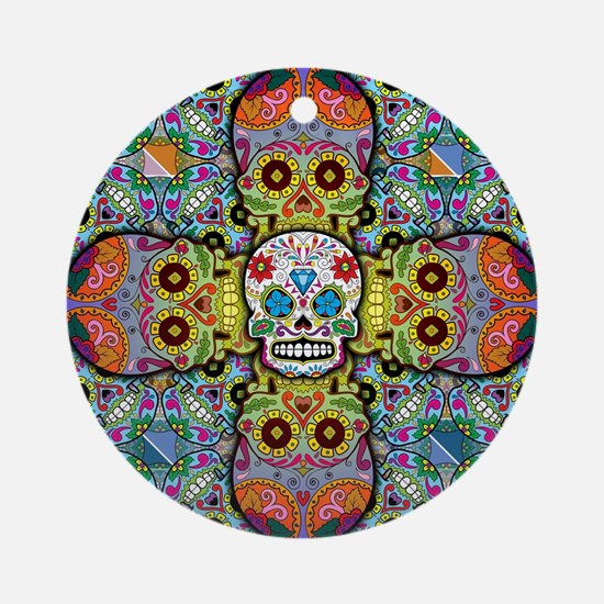 Sugar Skulls Ornament (Round)