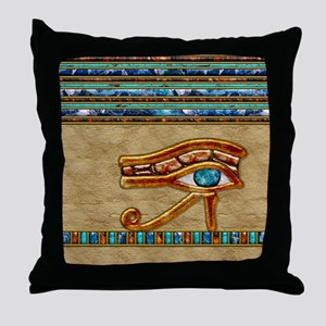 Harvest Moons Eye of Ra Throw Pillow