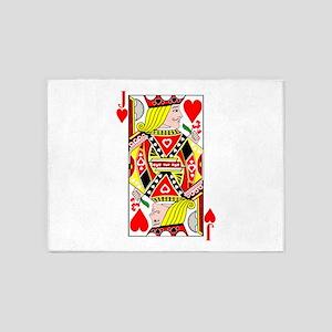 Jack of Hearts 5'x7'Area Rug