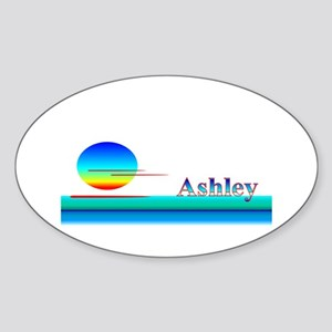 Ashley Oval Sticker