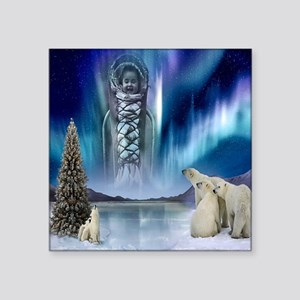 "Northern Lights Square Sticker 3"" X 3"""